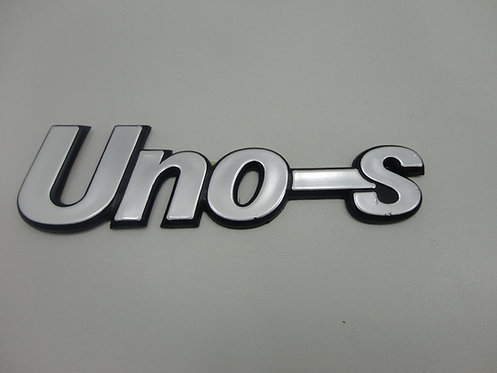 Emblema Uno S ( Preto/cinza) Uno S