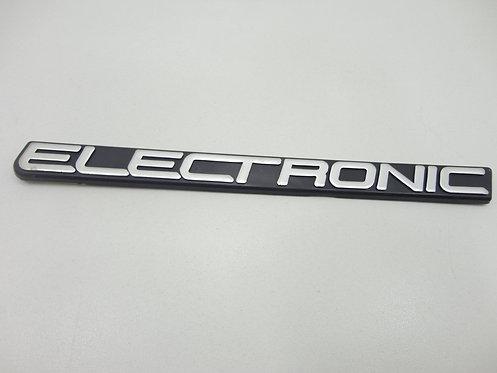 Emblema Eletronic ( Preto/ Cinza) Uno