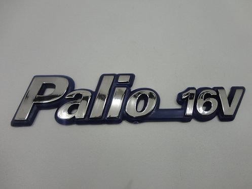 Emblema Palio 16v (azul/cromado) Palio 16v