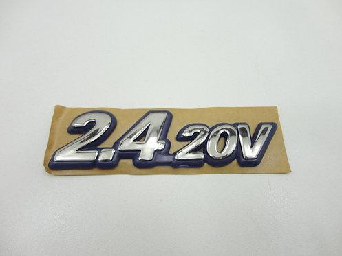 Emblema 2.4 20v Azul/Cromado Marea