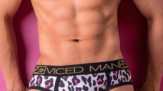 Brief Animal Print Pink Viced Man
