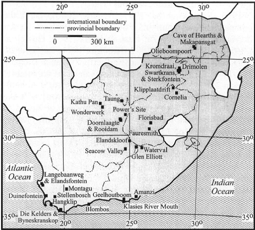 Early Stone Age sites in SA