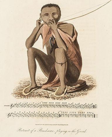 William Burchell 1811 San playing Gorah.