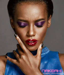 Purple Shadow Red Lips
