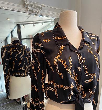Wilfred Black Silk Shirt