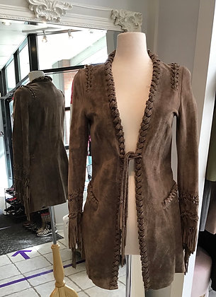 Marc Cain Brown Suede Jacket