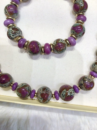 Millefiori Murano Glass Jewelry Set