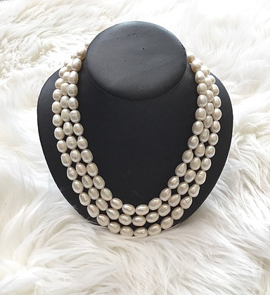 Triple Strand Pearls