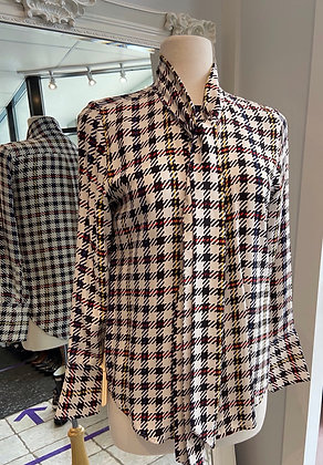 Equipment Houndstooth Blouse