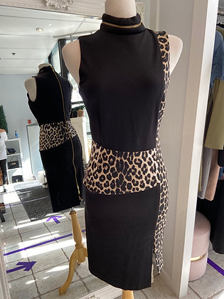 Cartise Dress with Leopard Detail