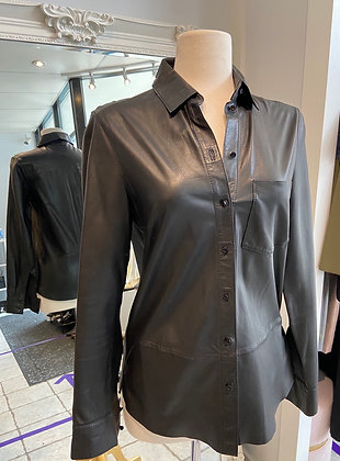 Set Black Leather Shirt