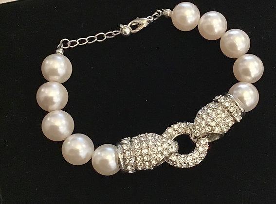 Crystal & Faux pearl Bracelet