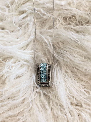 Crystal Silver Pendent