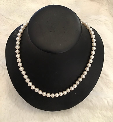 """18"""" Real Cultured Pearls"""