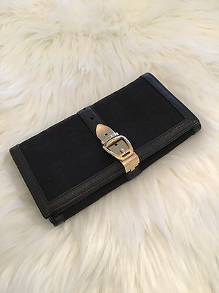 Gucci Leather & Canvas Wallet
