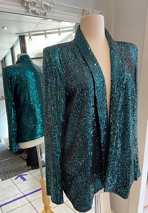 Greylin Green Sequin Blazer