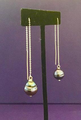 Genuine Pearl Drop Earrings