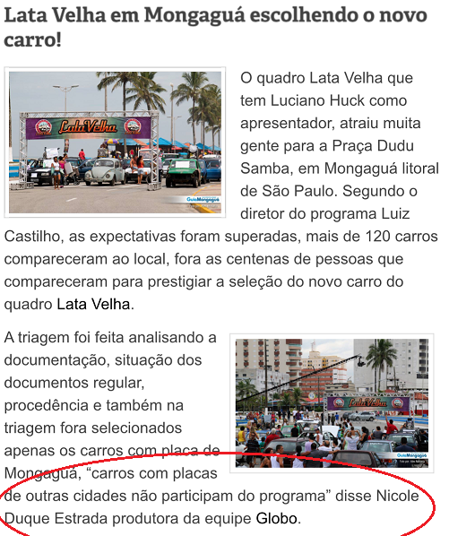 "TV Show ""Lata Velha"" in Mongaguá, SP"