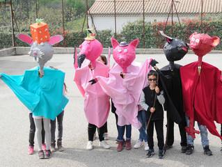 Marionnettes carnavalesques à Saint Julien du Serre