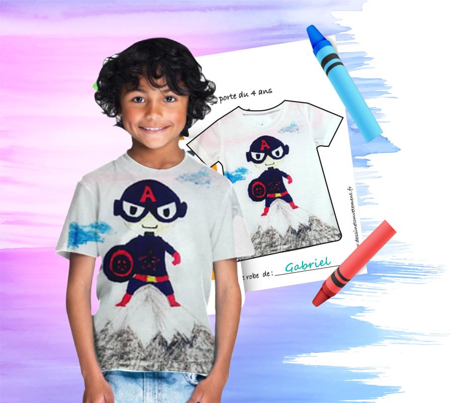 un tee shirt avec ton dessin