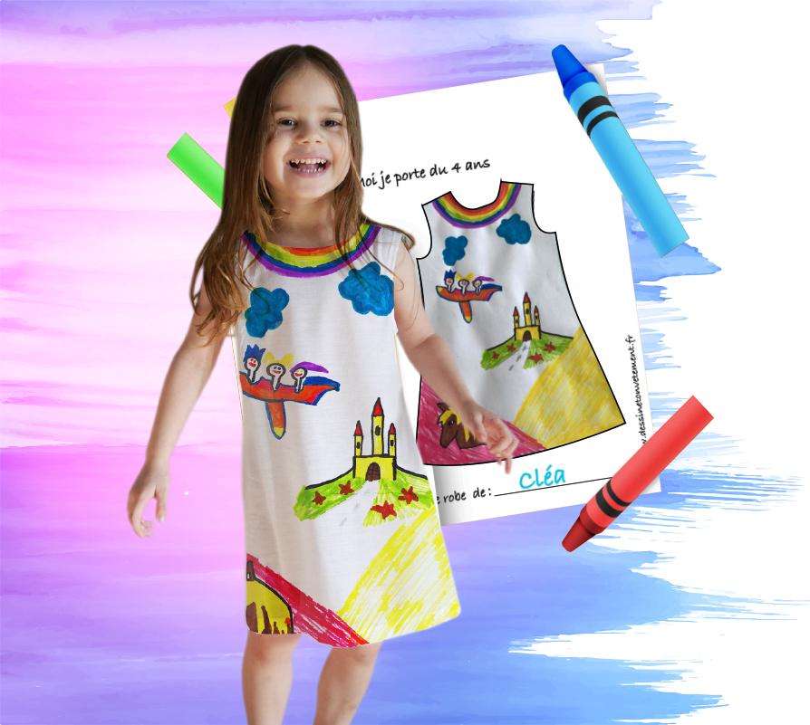 Une robe avec ton dessin