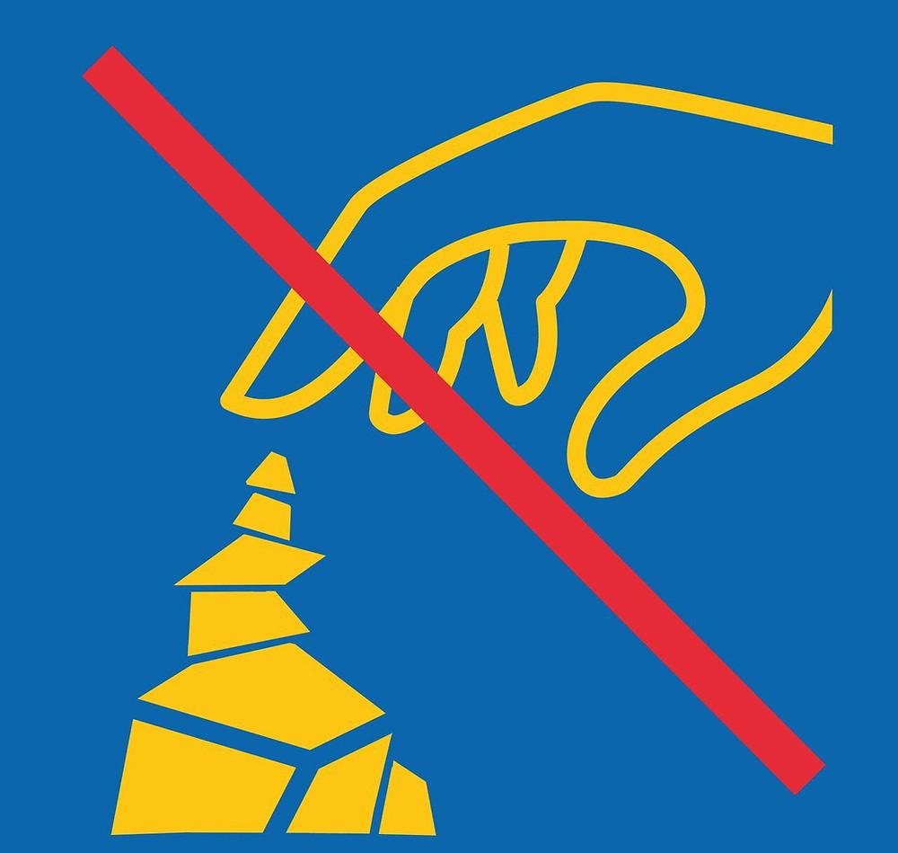 Portez Vous Bien Attention au respect de l'environnement certains endroits interdissent les cairns