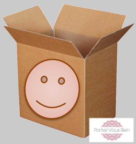 Carton de déménagement avec portez Vous Bien