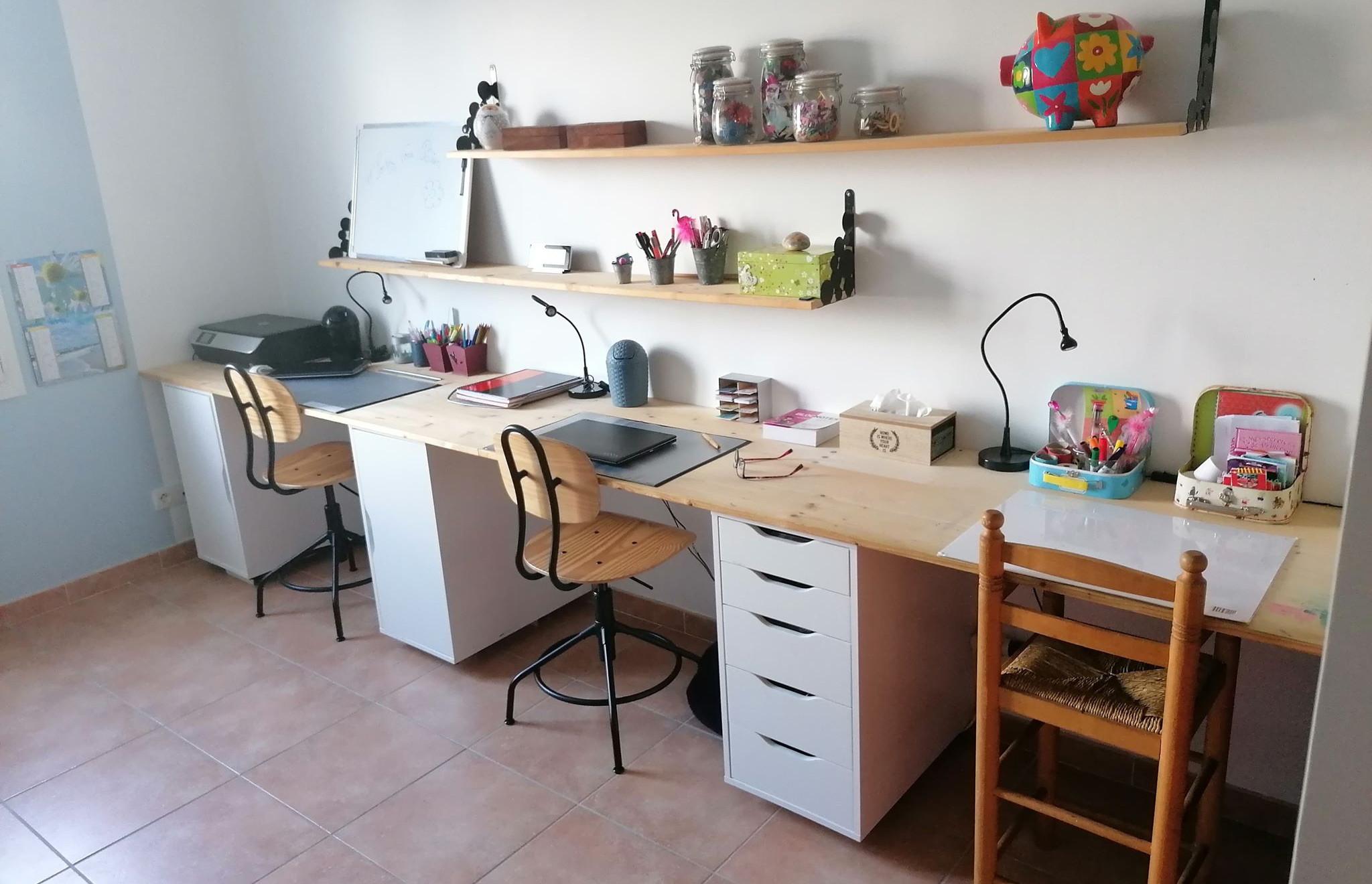 Portez Vous Bien Organiser un bureau familial parents et enfants