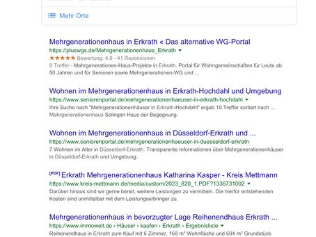 Mehrgenerationenhaus in Erkrath -Wohnalternative im Alter Teil 2.
