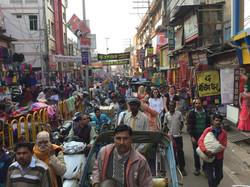 Rickshaw ride in Varanasi.