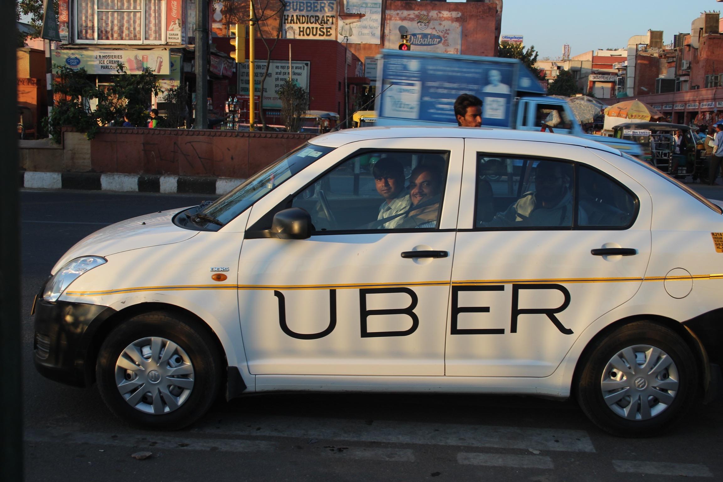 Uber in Jaipur.