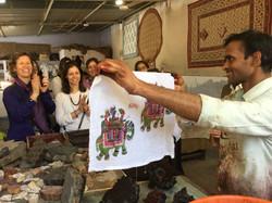 Making textiles in Jaipur.