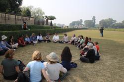 Meditation beneath the supta