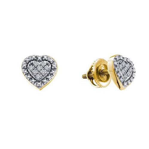 Aretes 16 diamantes 0.05ctw Plata 925 1.32gr