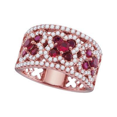 Diamond & Ruby Ring 18k Rose Gold
