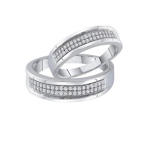 Aros Alegria 1/6 ctw aprox. 16 puntos 40 diamantes Plata 925 2.11gr