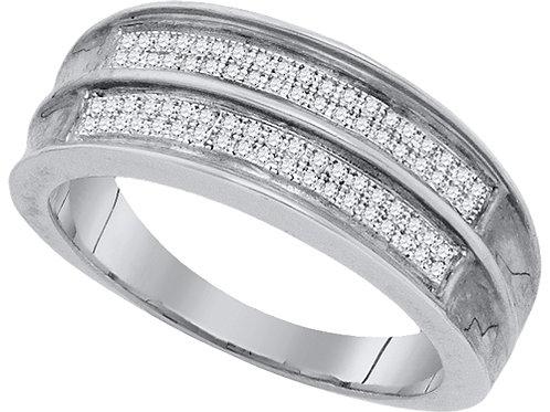 Anillo 1/4ctw aprox. 25 puntos 76 diamantes Plata 925 3.39gr.