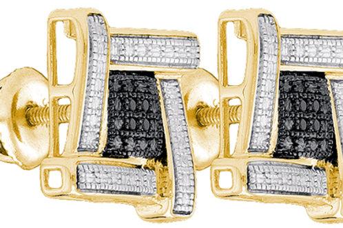 Aretes 8 Diamantes 3 puntos en total Plata 925 3.51gr.