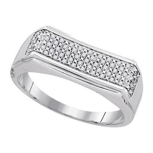 Anillo 1/6ctw aprox. 16 puntos 60 diamantes Plata 925 4.84gr.
