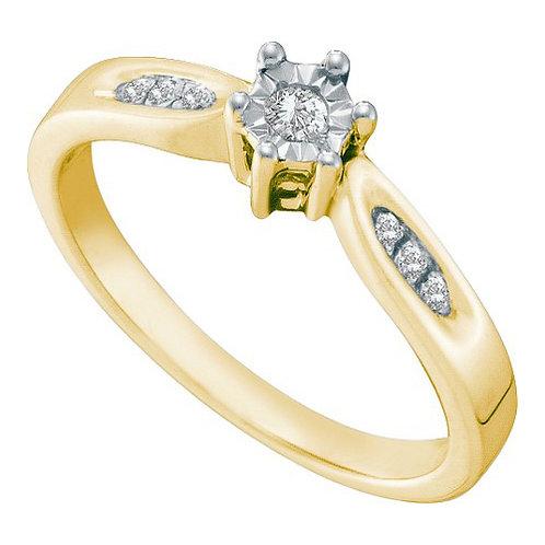ANILLO ALEGRIA 1/20 ctw aprox. 5 puntos (0.03ctw Diamante central)