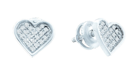 Aretes con 18 Diamantes 5 puntos en total Plata 925 0.68gr.