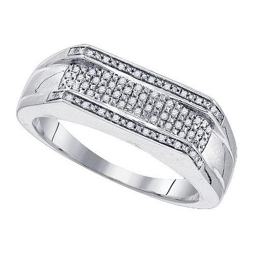 Anillo 1/6ctw aprox. 16 puntos 62 diamantes Plata 925 4.56gr.
