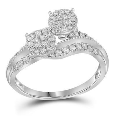 Deux Soleil Diamond Ring