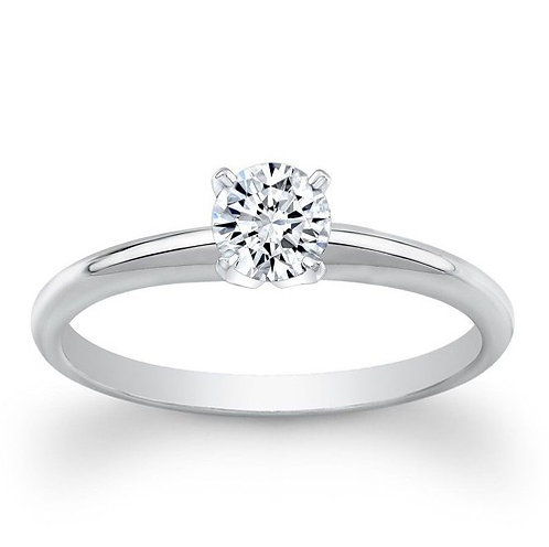1/2 Ctw 18K Solitaire Bridal Wedding