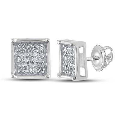 Point Carre Diamond Earrings