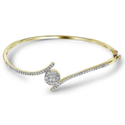 Bracelet 3/4 ctw Diamond 14k 7.15 gr.