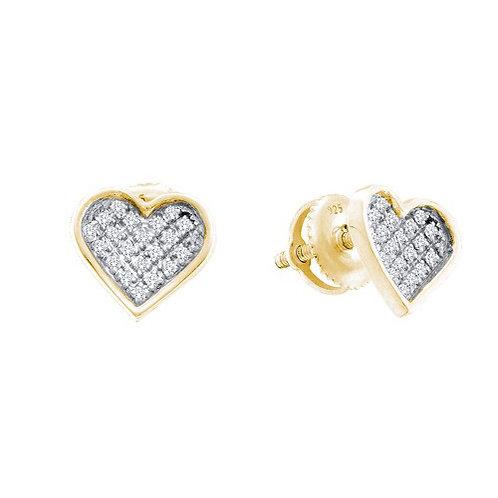 Aretes con 20 Diamantes 5 puntos en total. Plata 925 0.940gr.