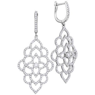 18k 1 3/8 ctw Diamond Earring