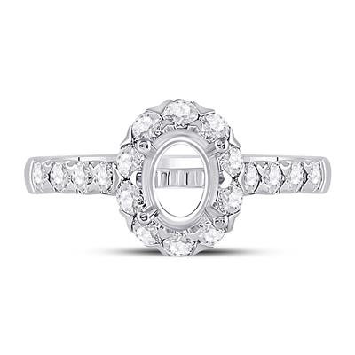 18K Solitaire Bridal Wedding 7/8ctw Semi Mount 1Ct
