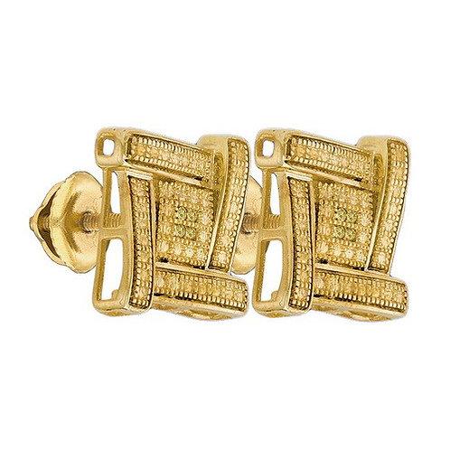 Fancy SQUARE LIGHT Diamond Earring